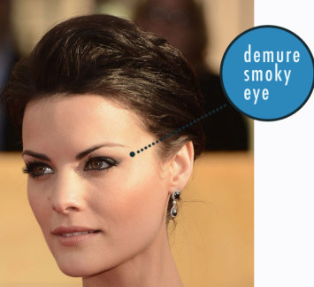 demure smoky eye