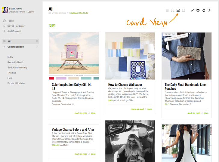 feedly card view