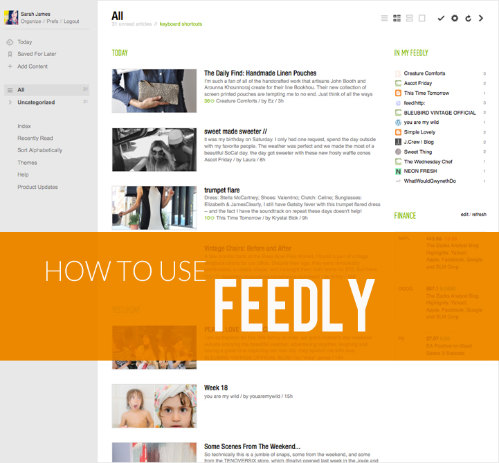 how to use feedly