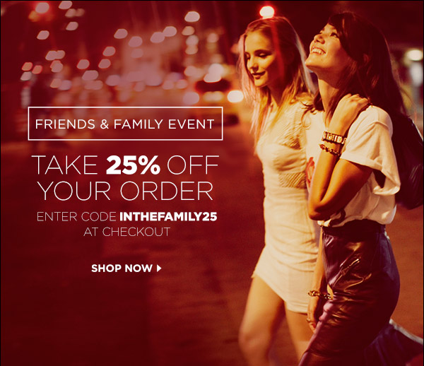 shopbop friends and family code