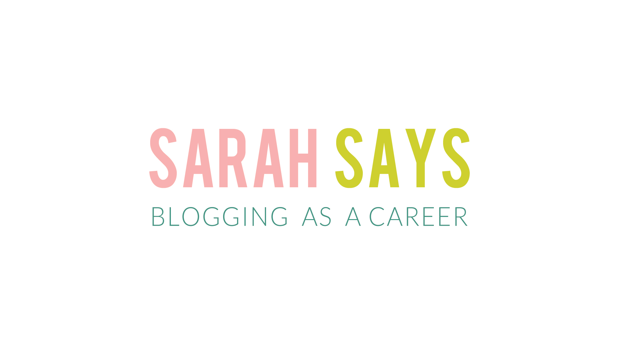 bloggingascareer