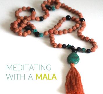 meditating with a mala