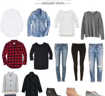 capsule wardrobe winter most worn