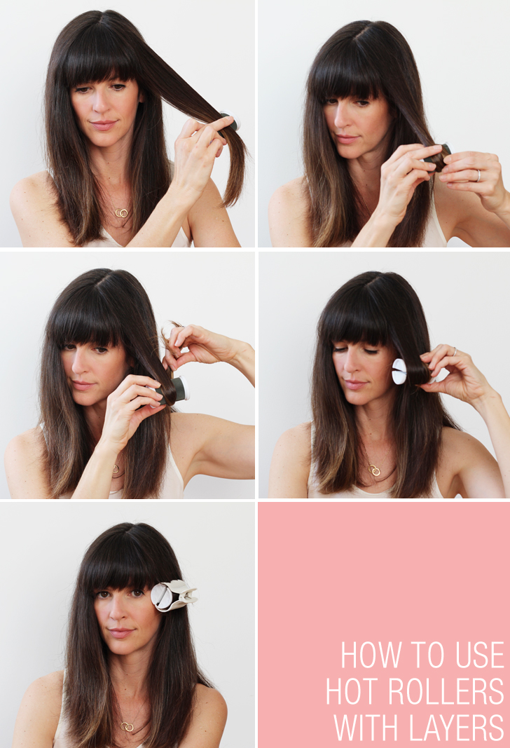 how to hot roller your hair