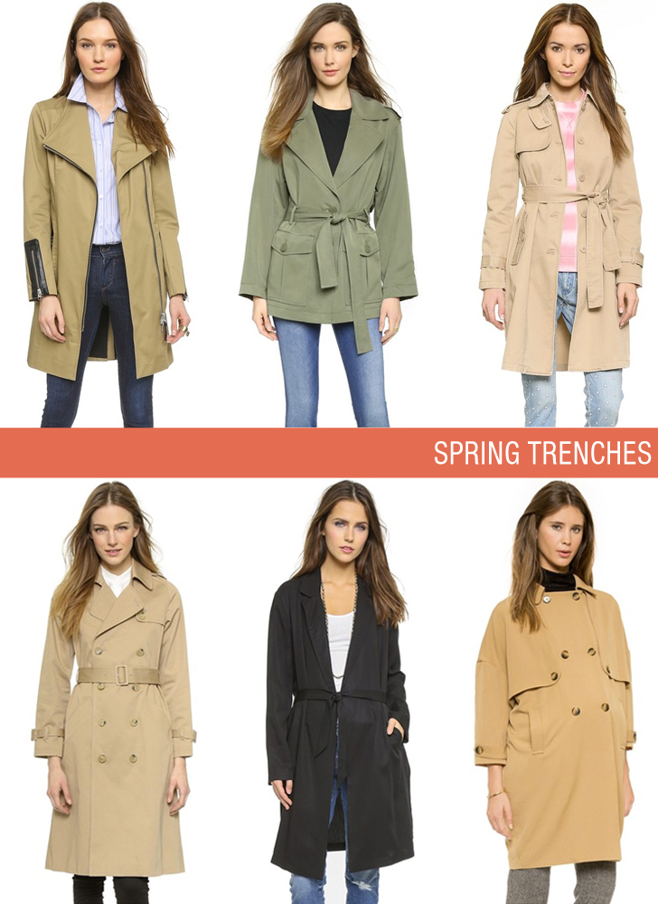 shopbop spring trench coat sale