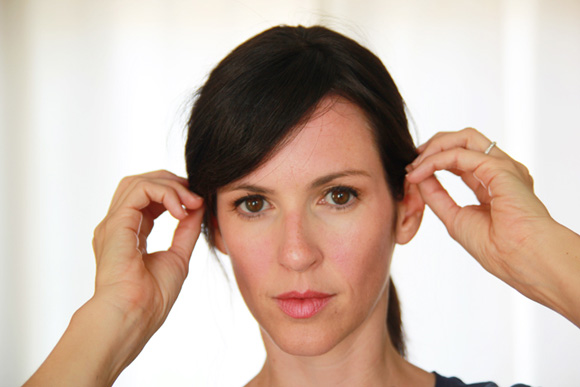 how to style bangs cowlick