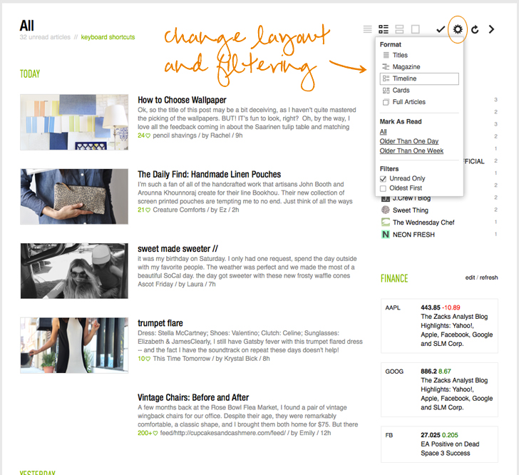 feedly layout