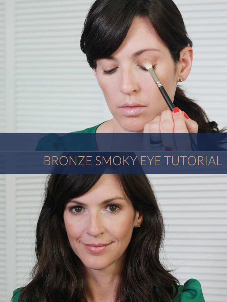 bronze smoky eye tutorial