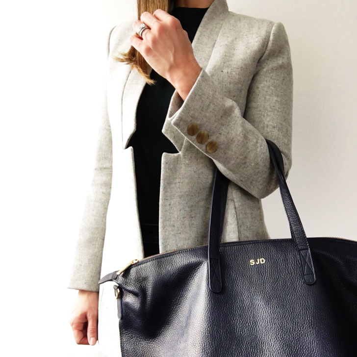 3aeb48f5c oversized carryall tote in navy. Cuyana's philosophy of fewer, better  things has always resonated with me, and is the primary reason I've been a  customer ...