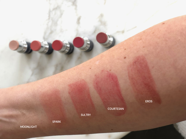 vapour mini runway swatches