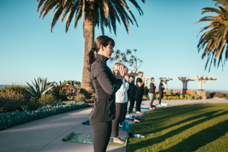 laguna beach yoga in the park