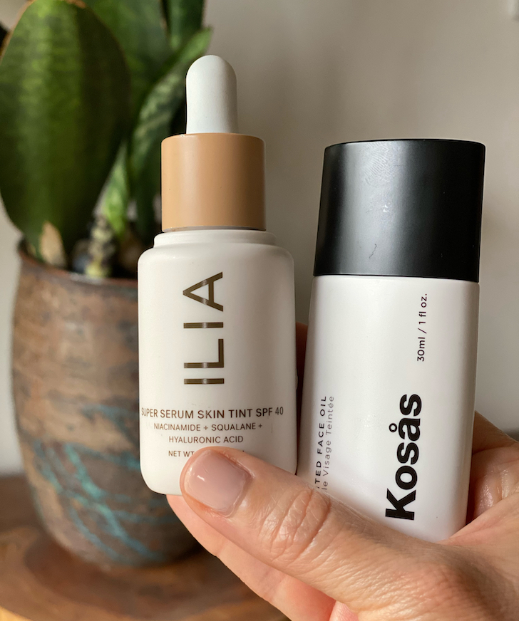 Showdown: Ilia Super Serum Skin Tint SPF40 vs Kosas Tinted Face Oil