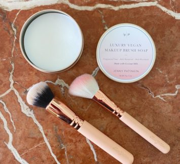 How To Clean Your Makeup Brushes jenny patinkin brush soap review
