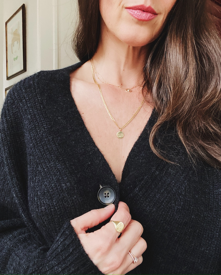 whoorl gold necklaces