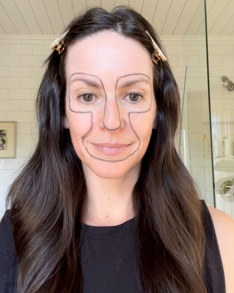retinol face map